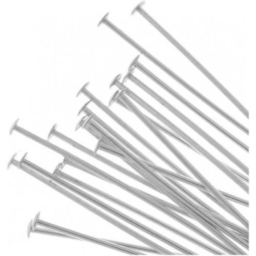 pkg 20 26 gauge, Sterling Silver 2 inch headpins